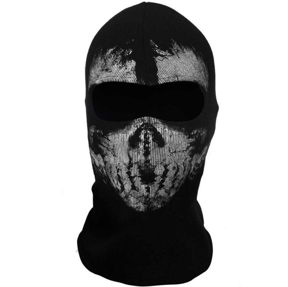 SzBlaZe Brand CS Player Call Duty Ghosts Cotton Balaclava Mask Halloween Full Face Game Cosplay Stocking mask Skullies Beanies