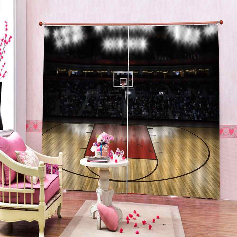Customized size Luxury Blackout 3D Window Curtains For Living Room sports curtains Blackout curtain