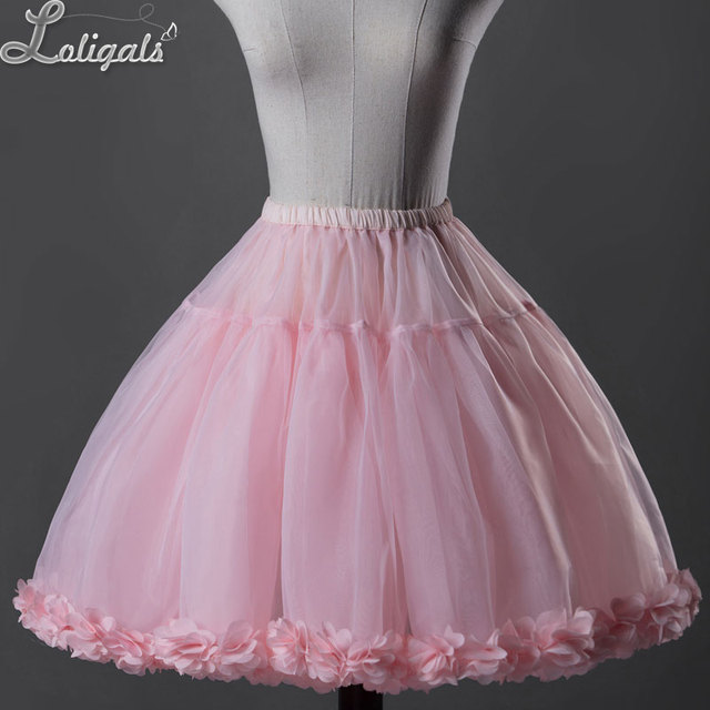 Classic Ball Bown Style Short Lolita Petticoat Sweet Organza Slip Skirt by Classical Puppets