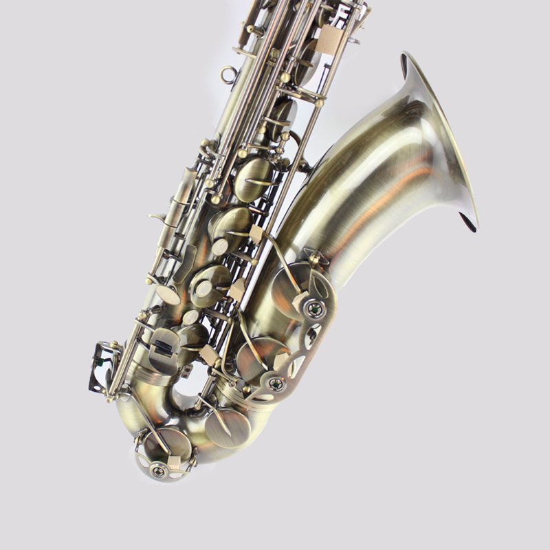 Tenor sax Saxophone Bb antique brass surface Wind Instrument Sax Western Instruments saxofone Musical Instruments saxophone