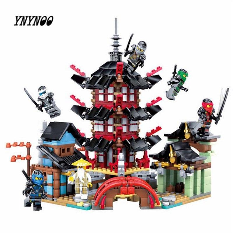 YNYNOO 76084 Ninja Temple of Airjitzu Ninjagoes Smaller Version Bozhi 800pcs Blocks Set With 06022 Toys for Kids Building Bricks fundamentals of physics extended 9th edition international student version with wileyplus set