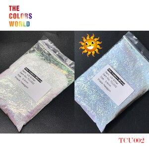 Image 3 - TCT 202 UV brokat światło ultrafioletowe sześciokąt kształt 0.4MM paznokci brokat ozdoby do paznokci paznokci żel makijaż Facepaint DIY akcesoria