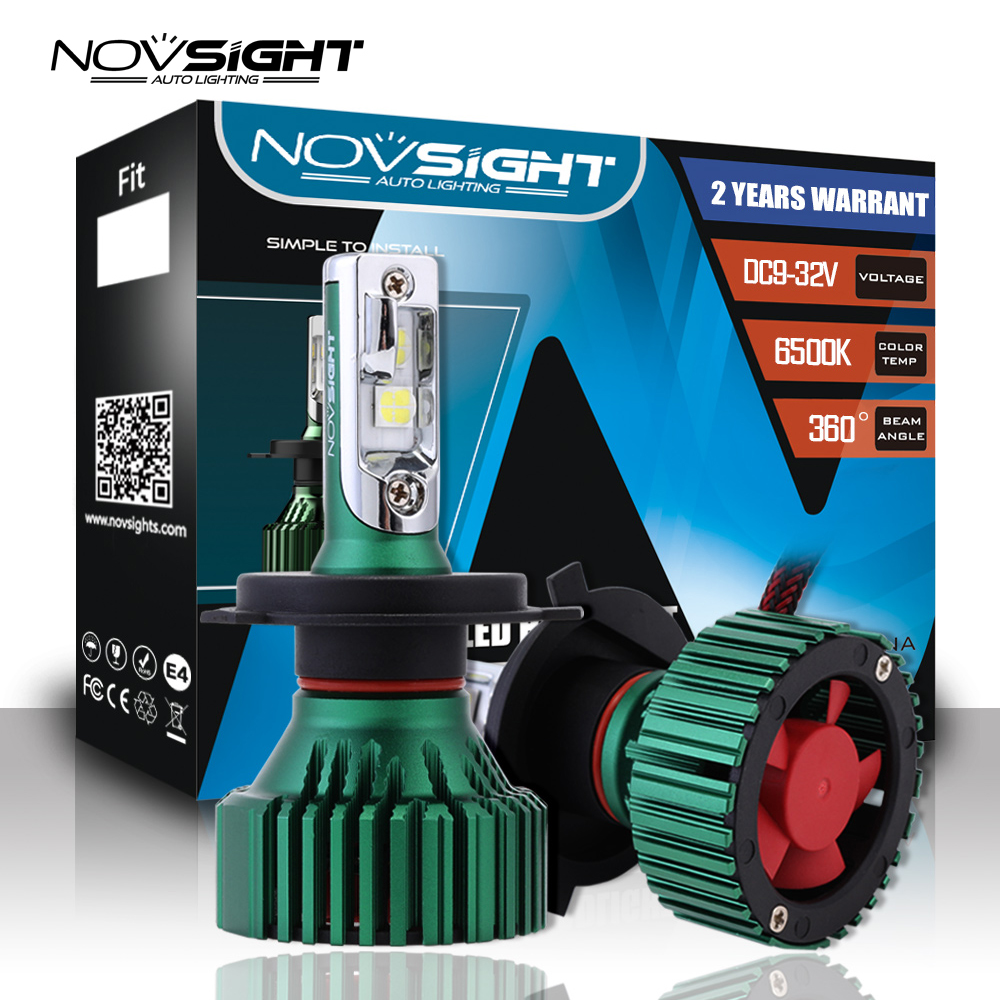 NOVSIGHT 6500K H4 LED H7 H11 H8 HB4 HB3 9005 9006 Auto Car Headlight Bulbs 60W