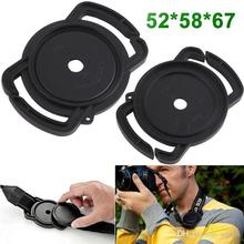 52mm 67mm 58mm Universal Anti-losing Camera Lens Cap Holder Keeper Buckle On Strap For Camera DSLR DC PA040(China)