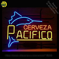 CERVEZA PACIFICO Neon Sign neon bulb Sign Glass Tube neon lights Recreation GARAGE Wall Room Iconic Sign Advertise Art Lamps