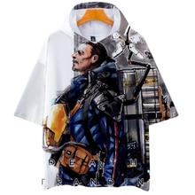 3D Death Stranding Men's Hooded Pocket Tshirt Streetwear Harajuku Women Kpop Cotton Male Shirt 2019 Summer Men Funny Top Tees