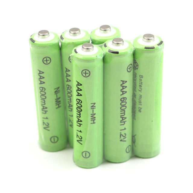 6pcs Nimh Aaa Rechargeable Battery Aaa Ni Mh 12v Rechargeable Cell