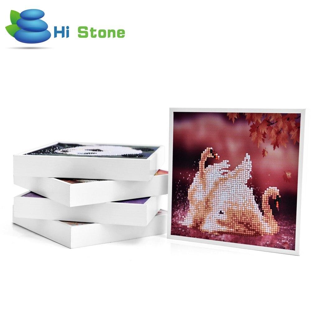 5D поделки алмазов картина Животные Лебеди белый Frameed Алмаз Вышивка крестом IQ Игрушки для Детский подарок Home Decor
