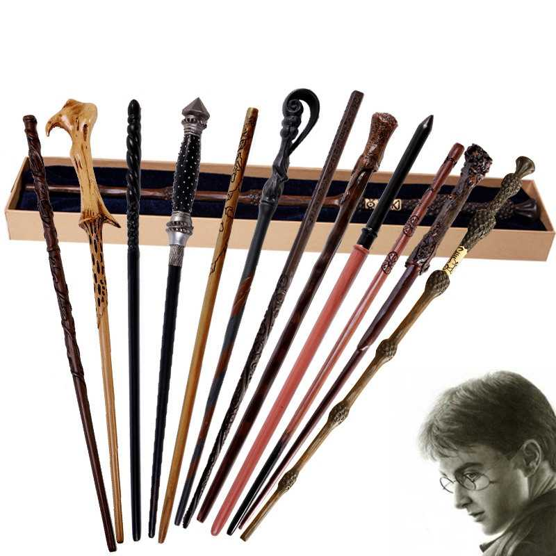 Cosplay Wands Dobby Hermelien Dumbledore Magical Stick Kid Speelgoed Metalen kern Toverstaf Staf Prop
