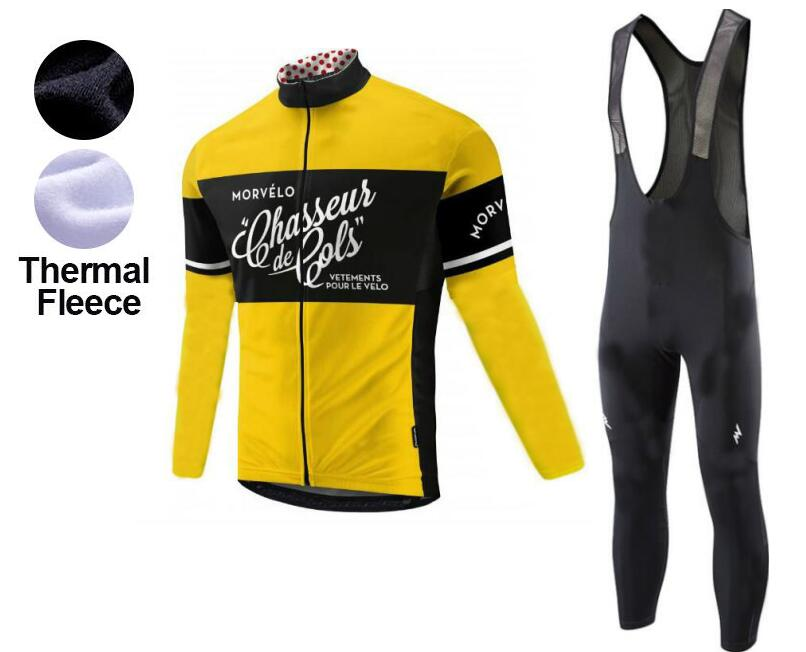 ba3f6ce85 Winter Thermal Morvelo Cycling Clothing 2018 Men Fleece Jersey Bike Bicycle  suits Cycling Kit Ropa Ciclismo-in Cycling Sets from Sports   Entertainment  on ...