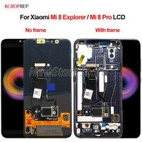 Оригинальный Super AMOLED ЖК дисплей для 6,21 Xiaomi mi 8 mi 8 Pro в экран отпечатков пальцев ЖК дисплей + сенсорный экран дигитайзер с рамкой