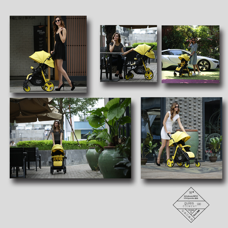 6kg high view Baby Stroller  with  Sit and  Lie Down Free conversion  Super Light and  Umbrella Strollers SLD baby stroller