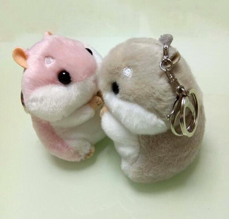 bd6a4bec3e 12cm Fur Pompom Keychain Fluffy Key Chains For Cars Hamster Keyrings Car  Trinkets Key Chain Faux Rabbit Fur Pom Pom Keychains