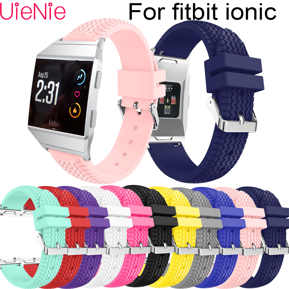 For Fitbit Ionic Fashion Classic Replacement Watch wrist silicone Band For Fitbit Ionic smart watch strap bracelet accessories in Watchbands from Watches