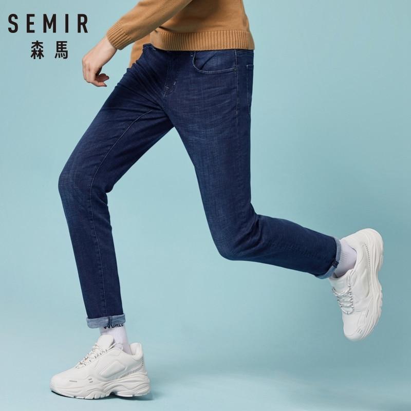 SEMIR 2018 New Men Stretch Casual Denim Jeans Pants Slim Feet Large Size Trendy Classics Business Men Cowboy Long Pants