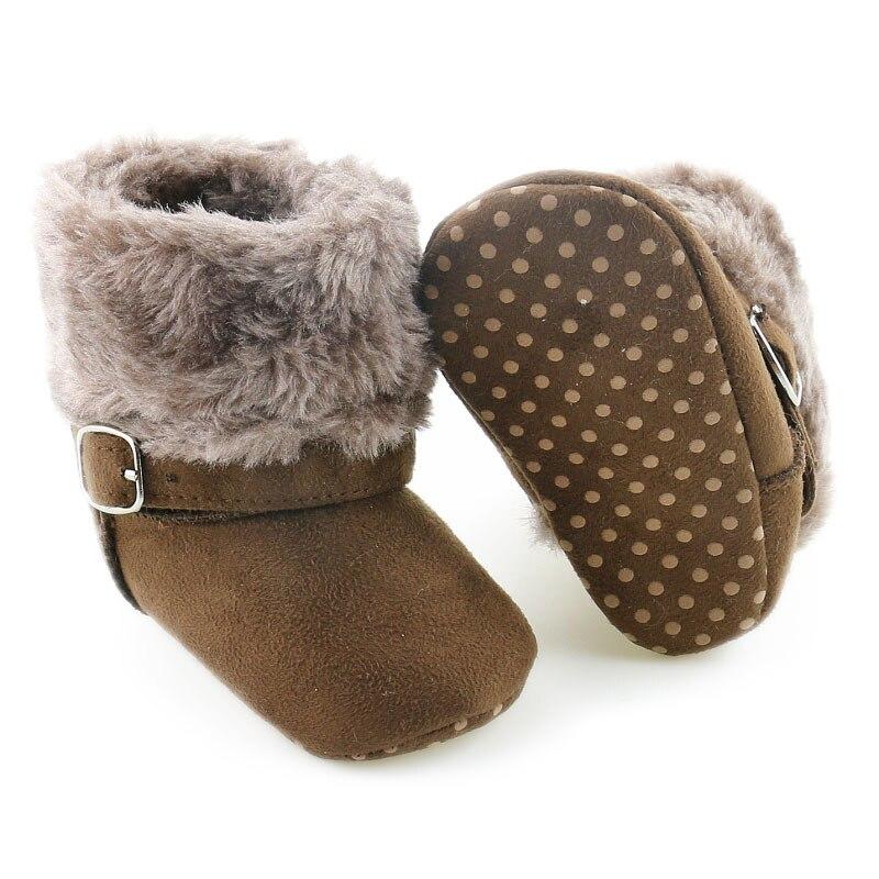 2018 nuevo invierno Bebé niños niñas niños botas de nieve marea salvaje gruesa caliente de la parte inferior suave de algodón Zapatos Niños botas de N203
