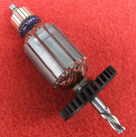 AC 220 V 4 שיניים תרגיל השפעה Shaft מנוע רוטור עבור בוש GBM400RE 500RE|motor rotor|for boschrotor 220v -