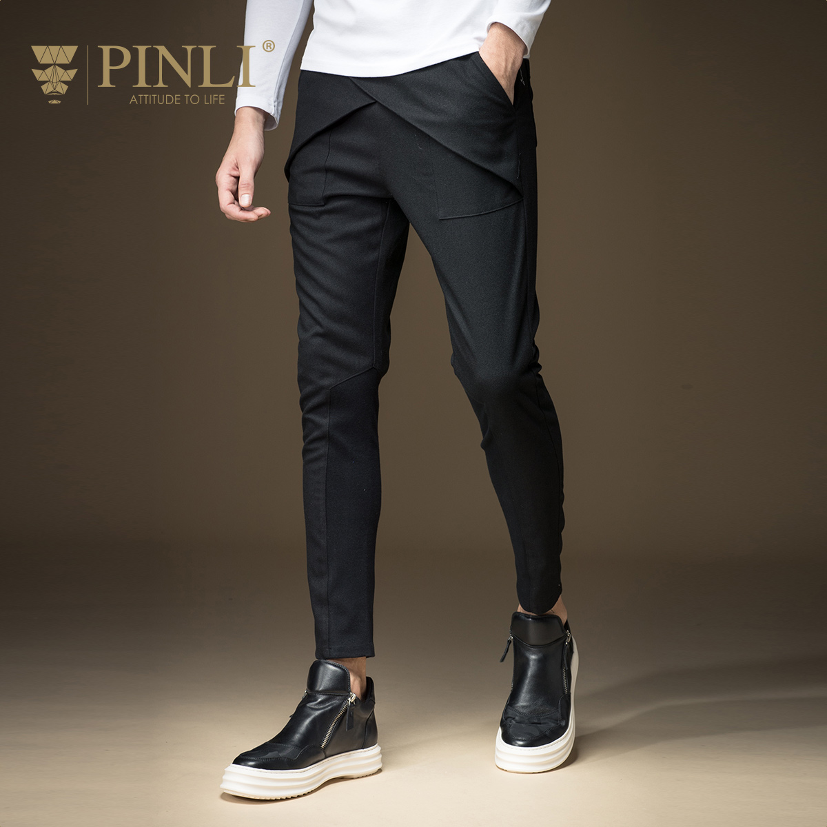 2019 Full Length Men Military Real Straight Mid Youth Autumn New Arrival Men's Clothing Slim Casual Skinny Trousers B163317047