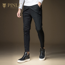 PINLI 2019 Full Length Military Real Straight Mid Youth Autumn Men's Clothing Skinny