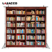Laeacco School Library Study Bookshelf Scene Children Photography Backgrounds Customized Photographic Backdrops For Photo Studio(China)