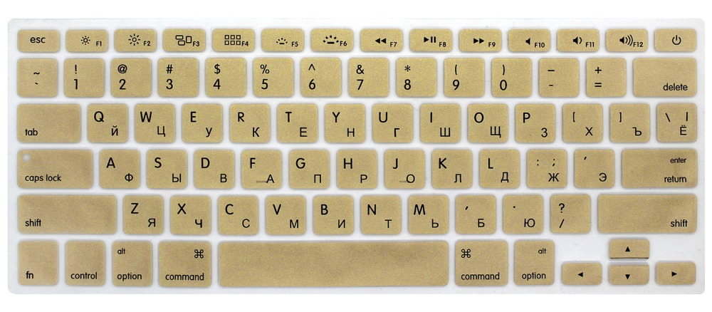 uxcell Russian Keyboard Skin Cover EU Black for MacBook Air 13 15 17inch