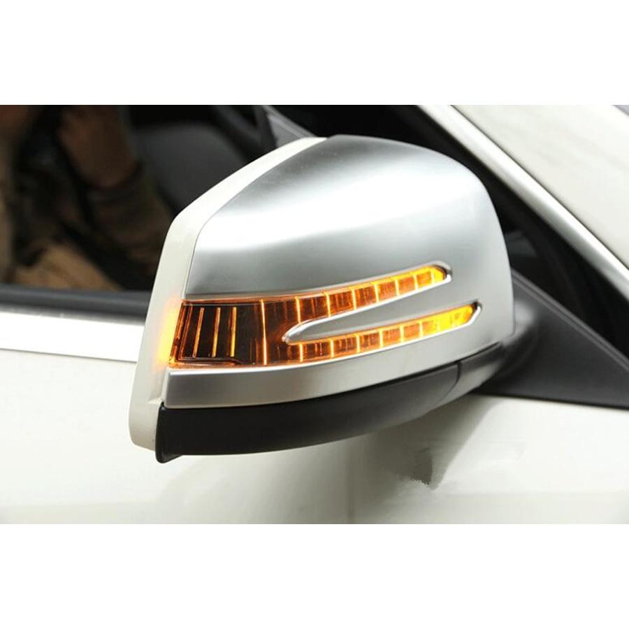 Autocollants de style de garniture de rétroviseur extérieur de voiture pour Mercedes Benz A/B/GLA/CLA/GLK/C classe 18-14/ML 12-15/GL