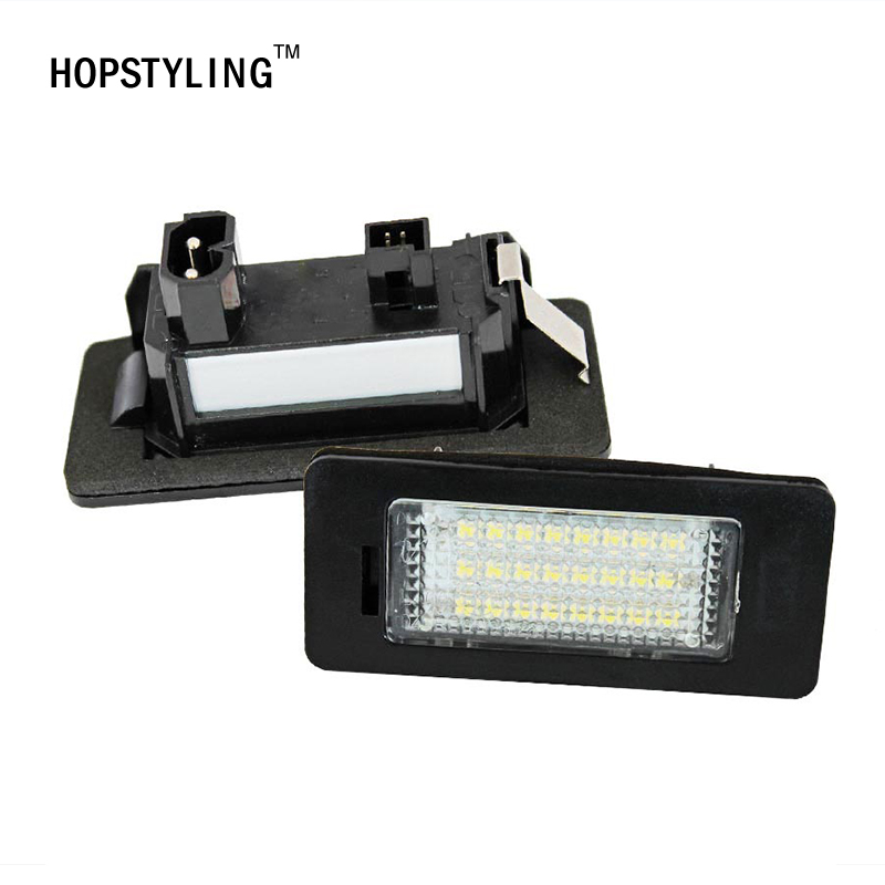 Hopstyling 2Pcs Error Free 24smd LED number License Plate Light lamp for BMW E39 E60 E61 E70 E82 E90 E92 White Car-styling 2pcs lot 24 smd car led license plate light lamp error free canbus function white 6000k for bmw e39 e60 e61 e70 e82 e90 e92