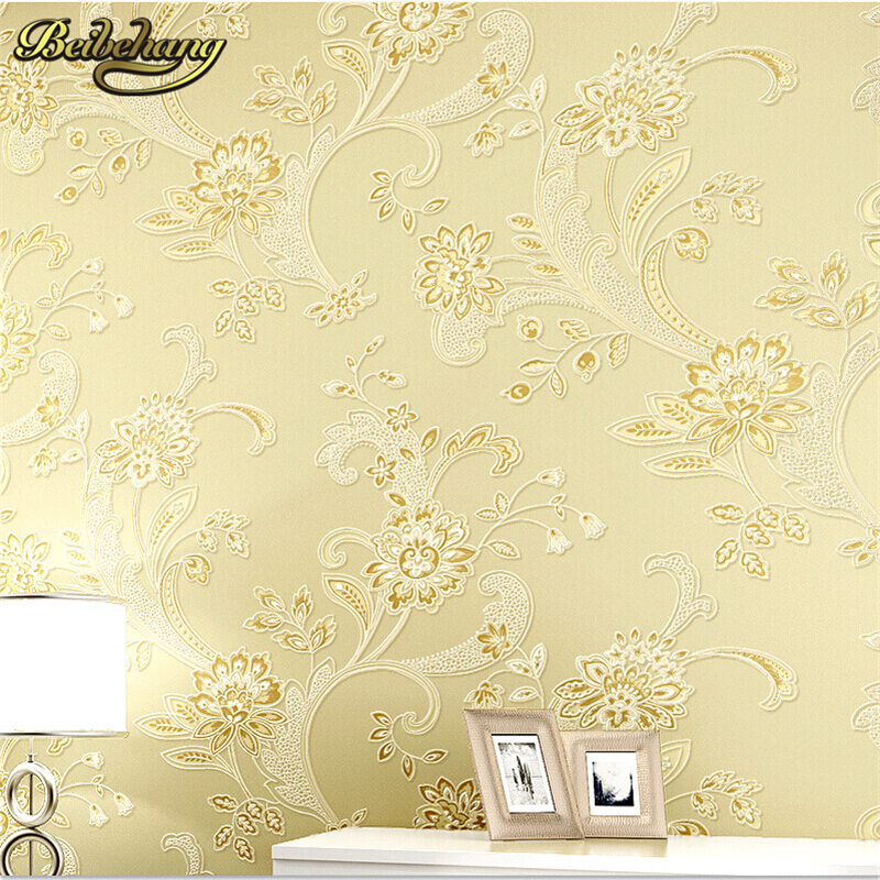beibehang Flower non-woven wallpaper mural wall paper rolls papel de parede for living room bedroom home decor Home Decoration
