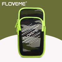 FLOVEME Armband Phone Case For IPhone 7 Plus 6 6S Breathable Double Pouch Running Brand Sports