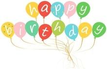 Sunbeauty Happy Birthday Banner Hot Air Balloon Shape Party Decor Themed