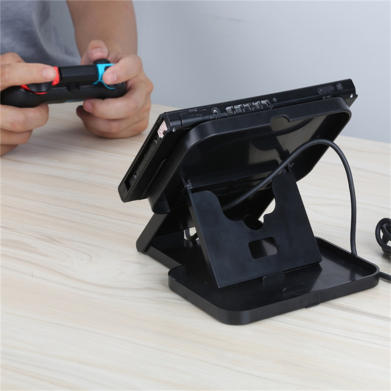 Fold-able And Lightweight Designed For Portable Height Adjustable Play Stand forNintendo Switch Console Bracket 40MR2505