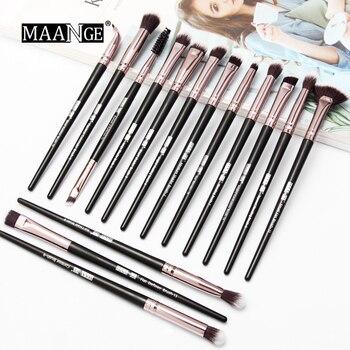 MAANGE wholesale 10set New Make Up Brushes 15 PCS Professional Blending  Eyeshadow Eyebrow Brush For Makeup Beauty Set