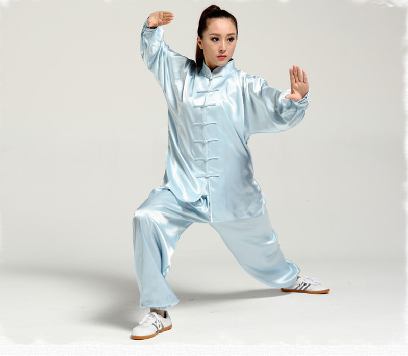 High Quality Chinese Martial Arts Clothes Tai Chi Uniform Exercise Wear Long Sleeves Kung Fu Suits For Men And Women