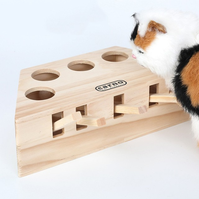 Wooden Cat Whack