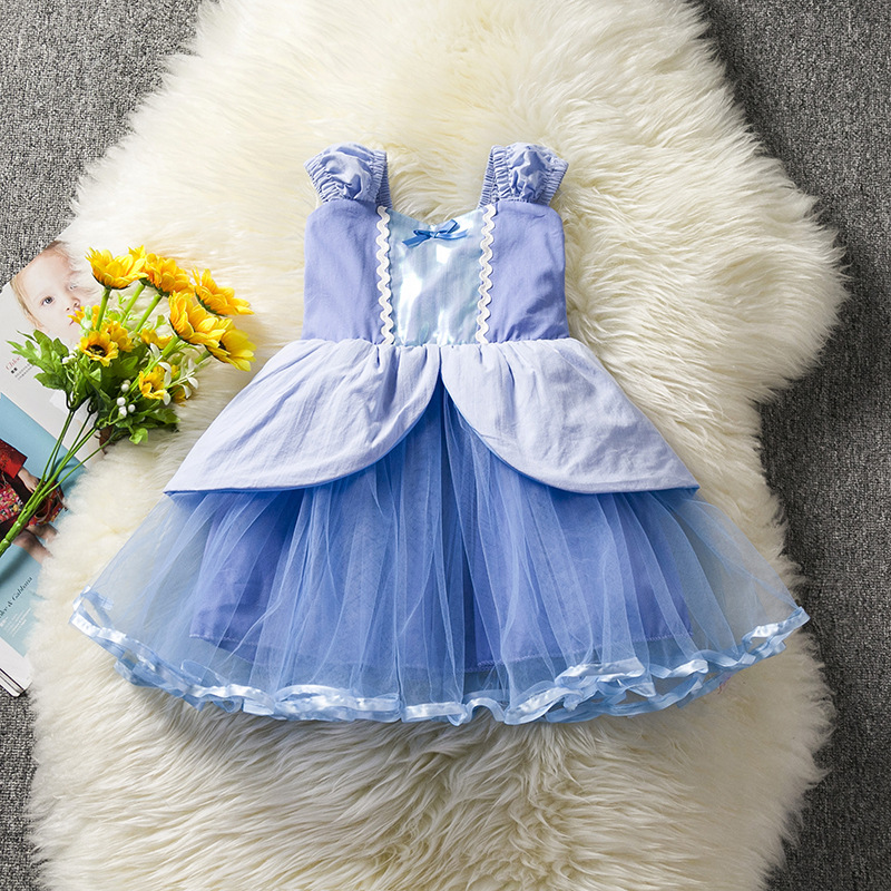 New Children skirt Summer style baby girl dress kids clothes chirstams Cosplay Halloween clothing Cinderella Aurora Dresses