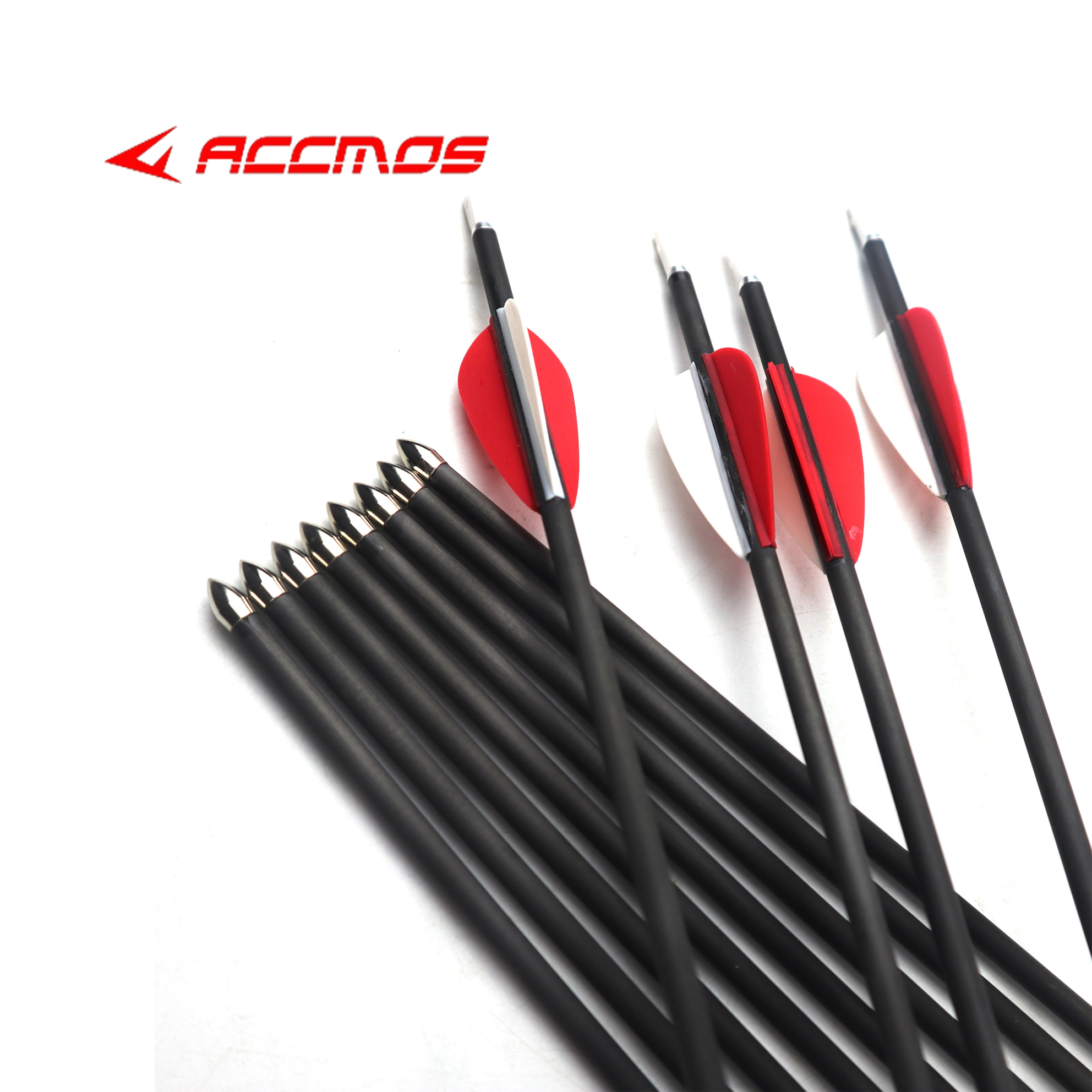 12ps New Pure Carbon Arrow 31-32inch ID 4.2mm Spine 500 600 700 800 900 1000 1200  Archery Recurve Bow Hunting Shooting