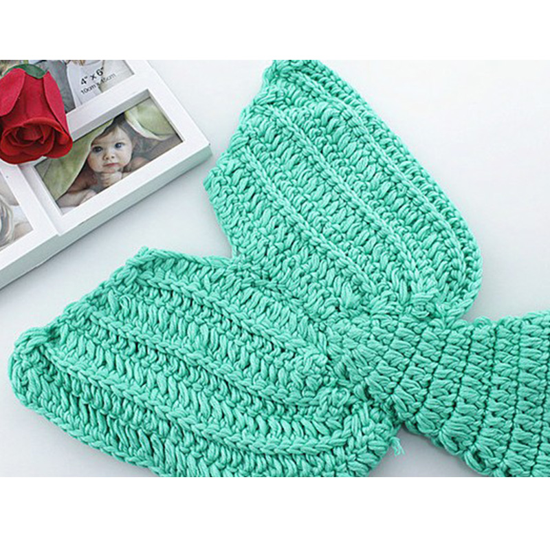 Baby Photography Mermaid Tail Newborn Prop Crochet Infant Costume
