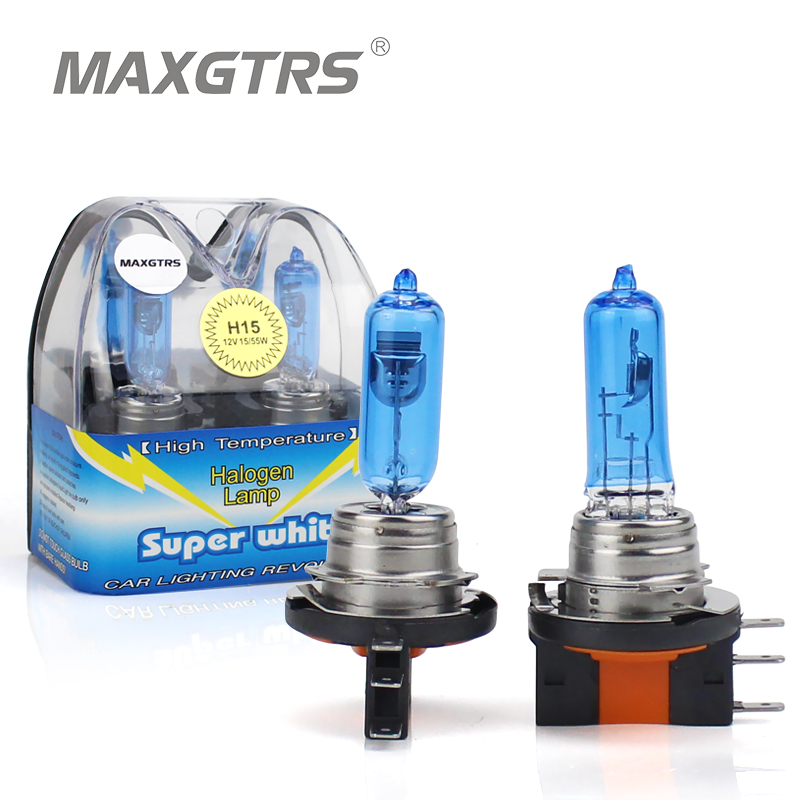 2x Canbus Car H15 Halogen Bulbs Lights Kit 55/15W Xenon Super White Replacement Lamp For VW Volkswagen Amarok GOLF Mk 6 7 F22