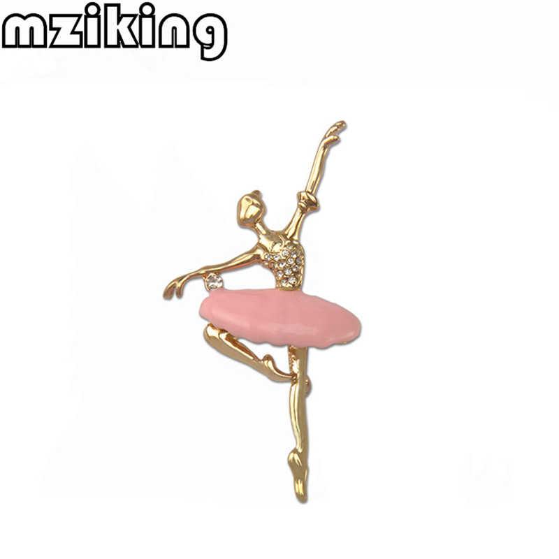 ใหม่คริสตัล Ballerina เข็มกลัด Pin สำหรับผู้หญิงน่ารัก Dancer Girl Enamel Pin Broach หญิง Broches Lapel Pin เครื่องประดับงานแต่งงานของขวัญ