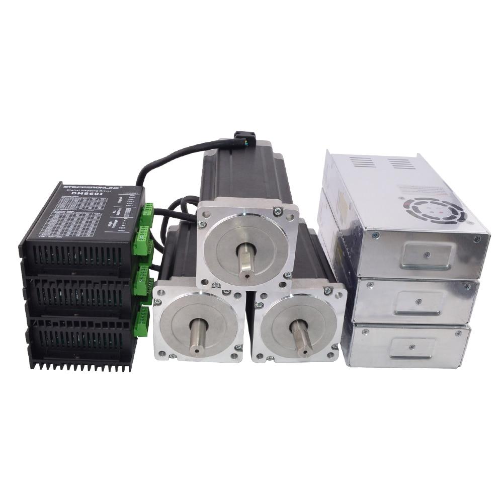 3 Axis CNC Kit 13Nm/1841oz.in Nema 34 Stepper Motor & Driver CNC Mill Router Lathe Robot3 Axis CNC Kit 13Nm/1841oz.in Nema 34 Stepper Motor & Driver CNC Mill Router Lathe Robot