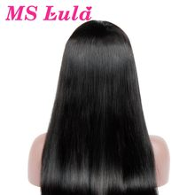 MS Lula Glueless Full Lace Human Hair Wigs Brazilian Straight Hair 130% Density With Baby Hair Remy Hair Free Shipping