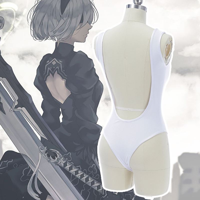 Anime NieR:Automata 2b White Underwear Jumpsuits Cosplay Costume Free Shipping