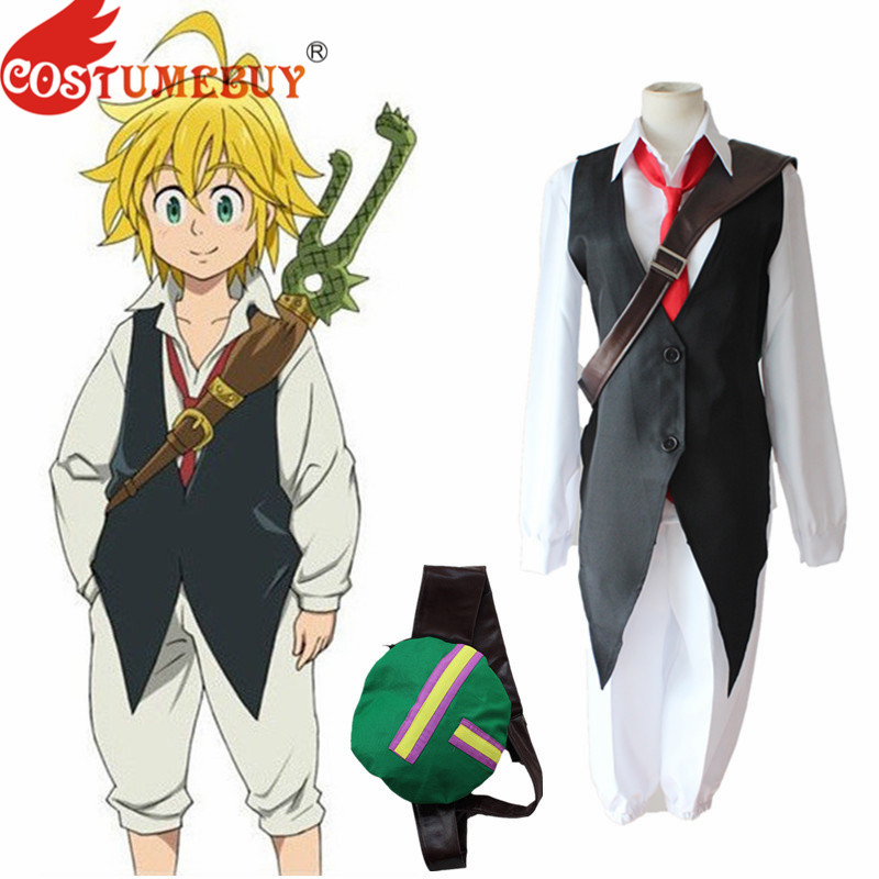 CostumeBuy Anime The Seven Deadly Sins nanatsu no taizai Dragon's Sin of Wrath Meliodas Cosplay Costume Full Set Uniform