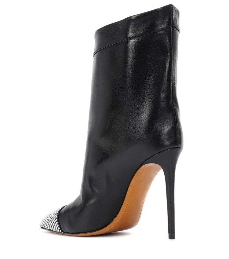Chic Botas Sur Bottes Avec Pointu 2018 Show Cheville As De Hiver Mode Bout Pour Stilettos Femmes Dames Crtstal Défilé Haute Nouvelle Slip Talons Bling wzwUtqYO