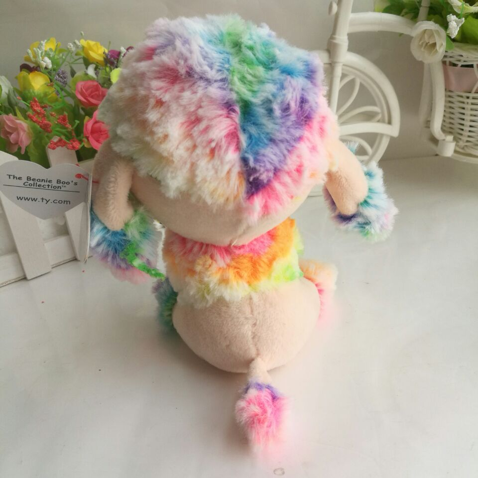 6fc8b091598 RAINBOW multicolor poodle Dog TY BEANIE BOOS 1PC 15CM Plush Toys Stuffed  animals children toy SOFT TOY home decor -in Stuffed   Plush Animals from  Toys ...