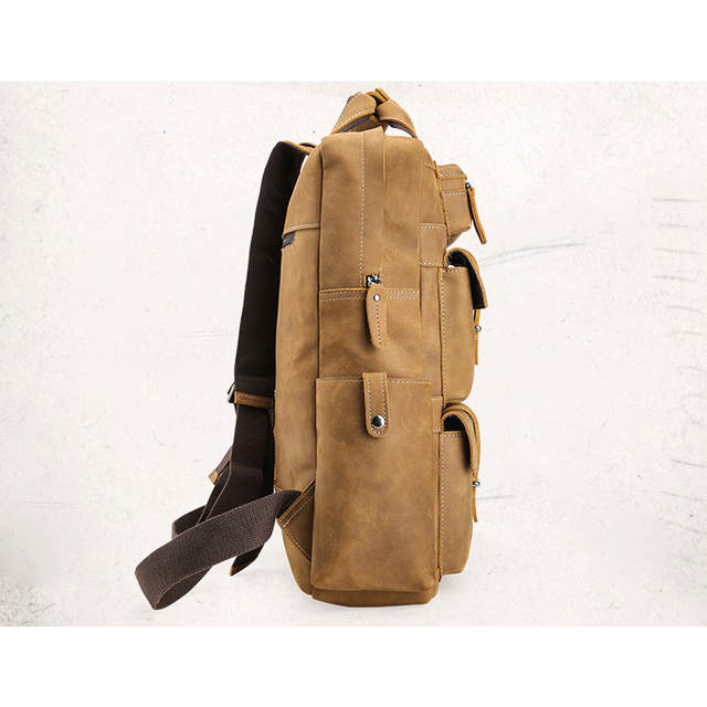 bd427cc0dc50 placeholder Tiding Luxury Italian Crazy Horse Leather Large Backpacks with  Multi Pockets Vintage Men Travel Rucksack Weekend