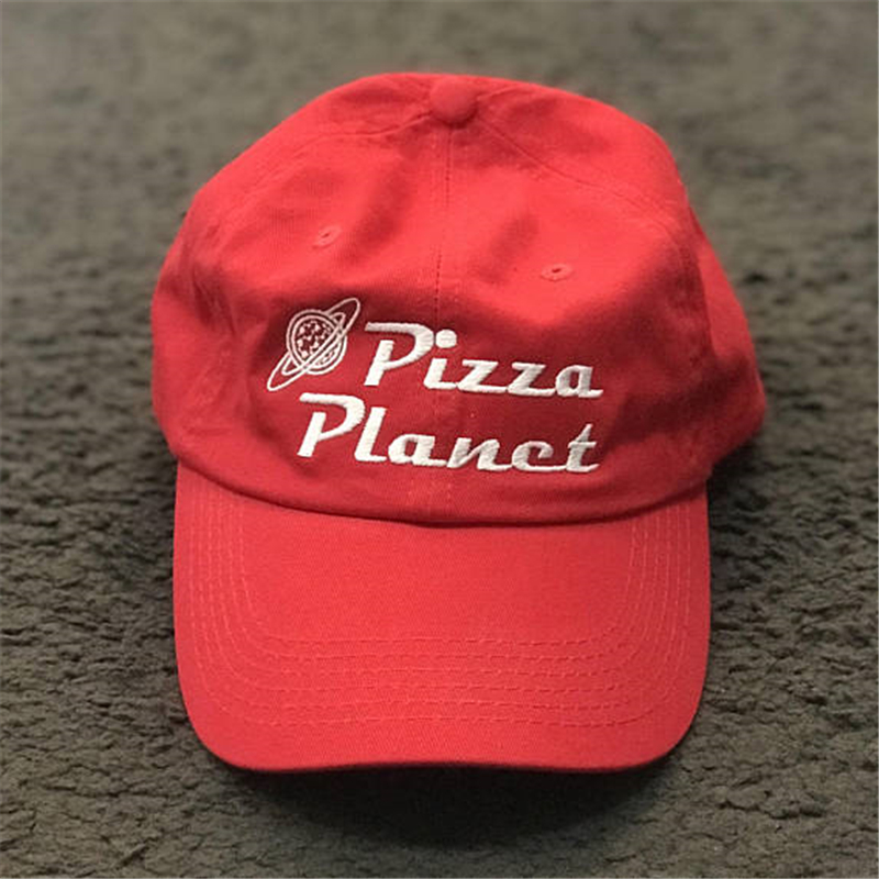 New Pizza Planet Hat <font><b>Baseball</b></font> <font><b>Cap</b></font> For Women and Man Dad Hat Summer Sun Pizza Cotton Snapback Embroidery <font><b>Sport</b></font> <font><b>Cap</b></font> Casual Brand image