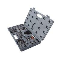 60 unids/set tap y juego de troqueles m3 ~ M12 grifos de tornillo métricos & amp; tap & amp; die wrench  grifos a tornillo de mano con rosca manual