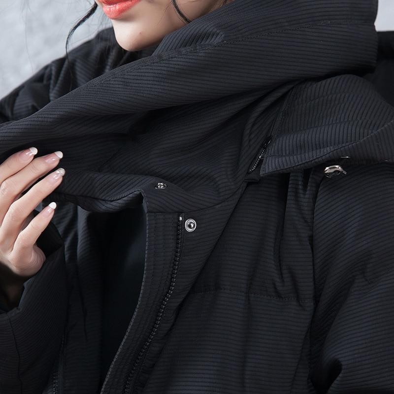 Womens Wear Korean Version 2018 Feaday Autumn And Winter New A Word Length Thickening Waist Waist Cap And Womens Down Jacket