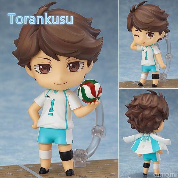 Haikyuu Action Figure Oikawa Tooru Nendoroid 563# 10CMM Haikyuu Nendoroid Oikawa Tooru Model Toy Doll Volleyball Figure anime haikyuu high school volleyball